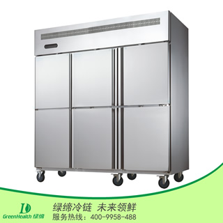 六门单温冷藏厨房柜
