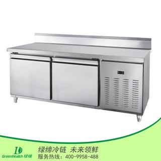 两门带靠背冷藏厨房工作台冷柜