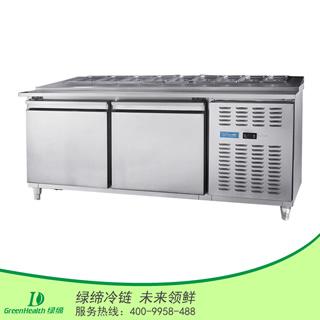 两门冷藏厨房披萨工作台冷柜