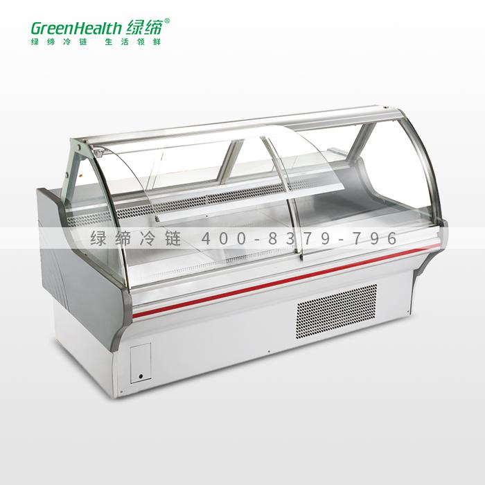 白色2米内机掀盖冷熟食柜