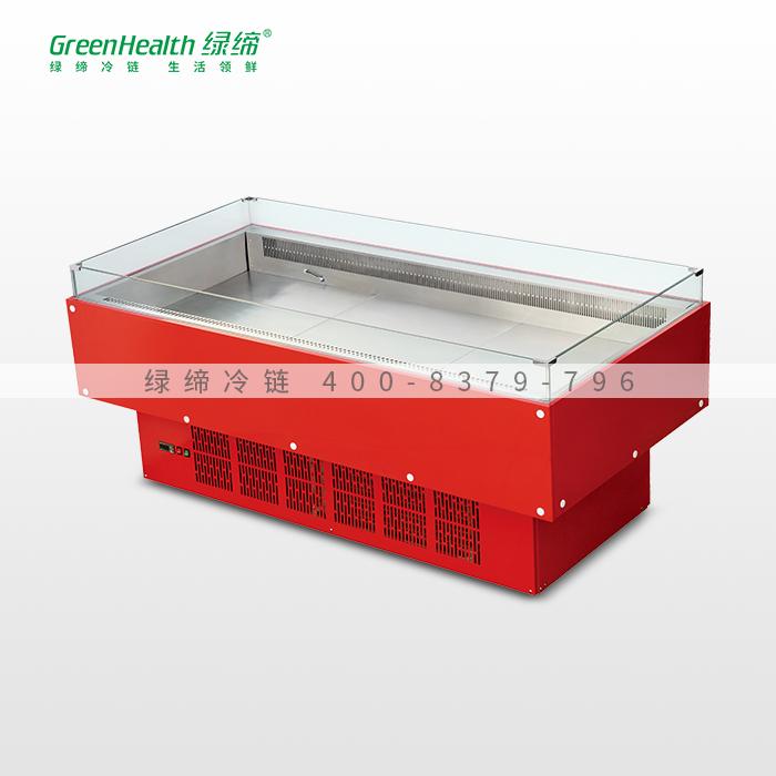 3米红款内机四面玻璃火锅柜