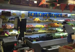 湖南欧果V蔬购买鲜肉柜风幕柜设备案例