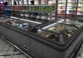 好又多大型商超购置超市组合岛柜案例