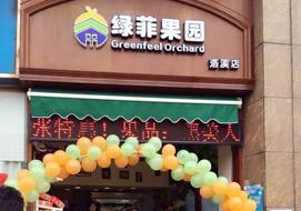 广州绿菲果园洛溪店购置水果风幕柜案例